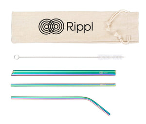 ripplshop Rippl Stainless Steel Straw Set