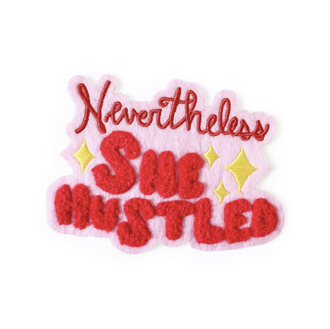 nevertheless she hustled iron-on patch - thegoodgoodsub