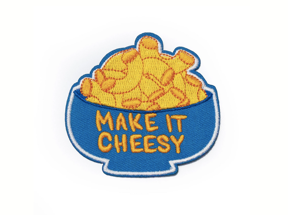 make it cheesy iron-on patch - thegoodgoodsub