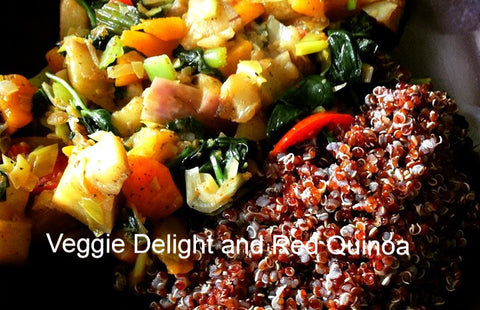 Veggie Delight and Red Quinoa