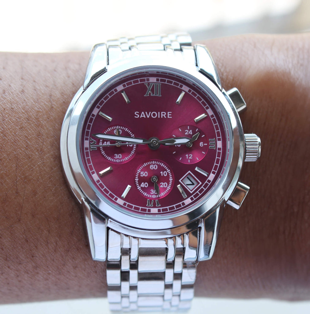 Madison Fuchsia Dial Watch