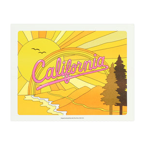 California Coast Risograph Print