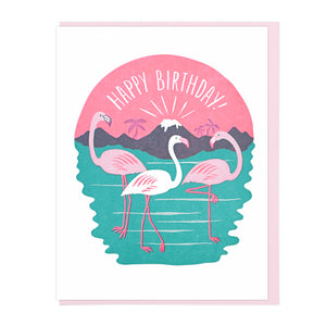 Happy Birthday Flamingos