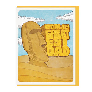 World's Greatest Dad Moai