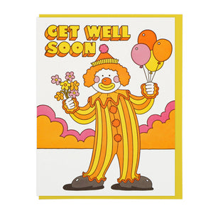 Get Well Soon Happy Clown