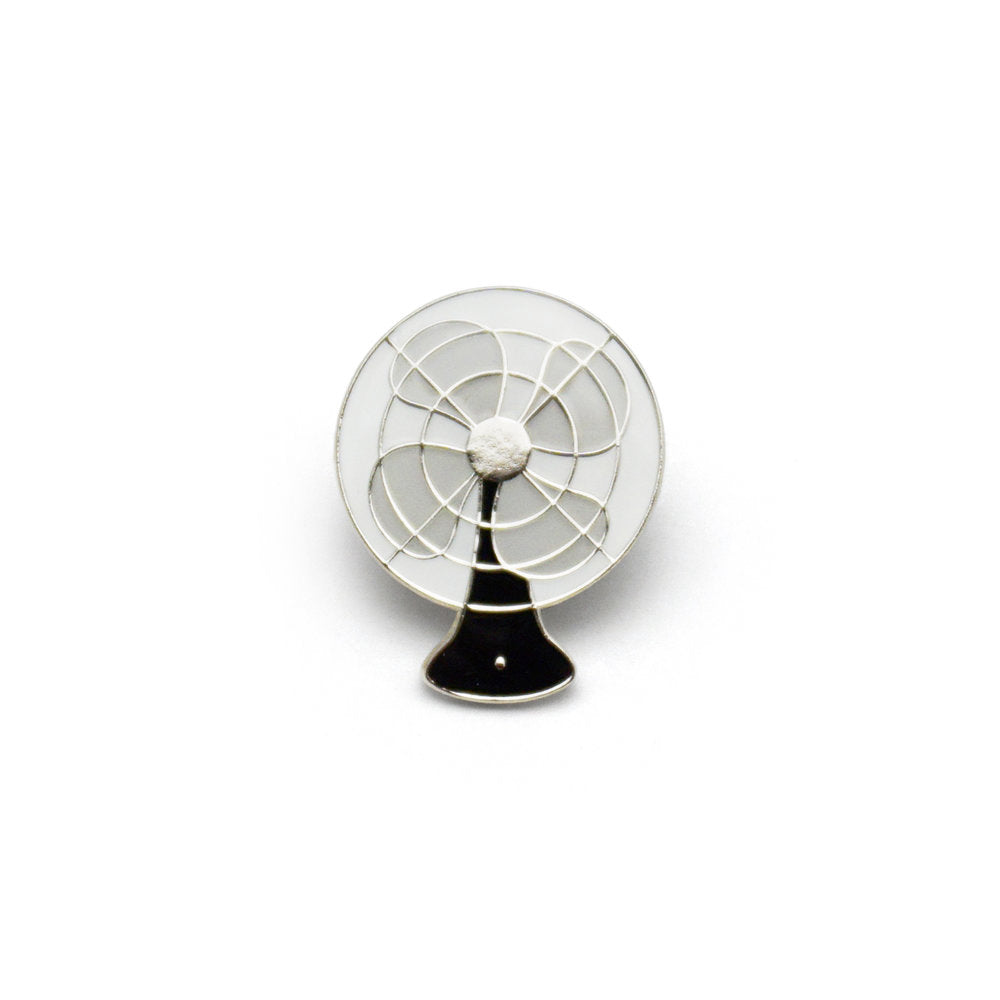 Vintage Electric Fan Enamel Pin (Black)