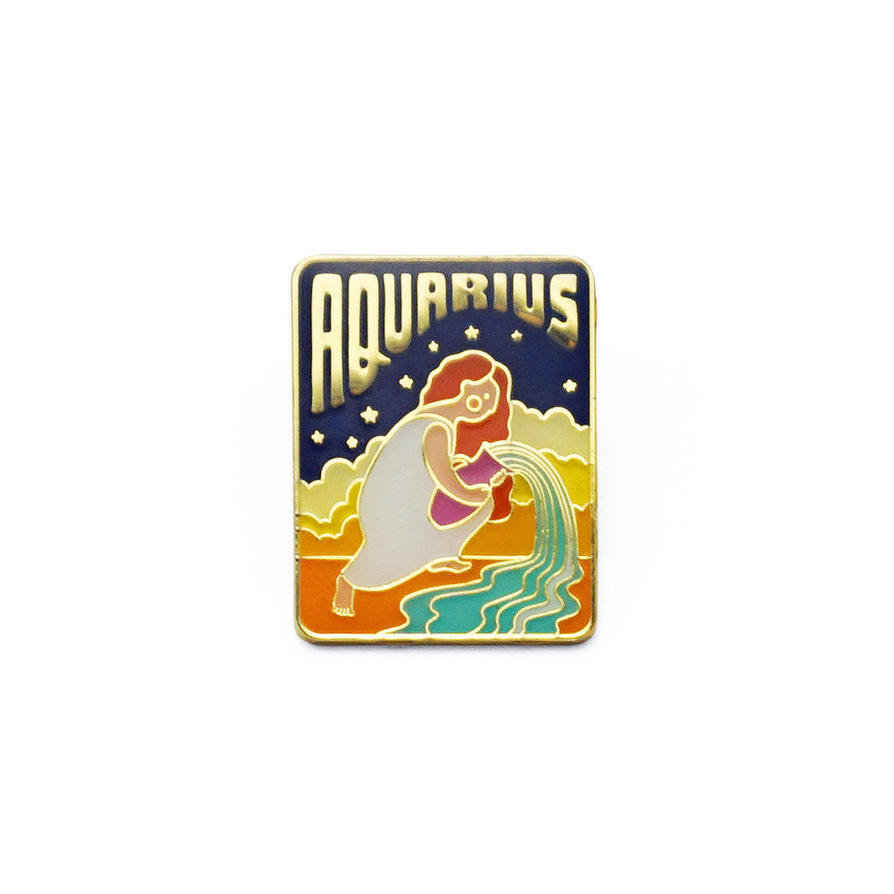 Aquarius Enamel Pin
