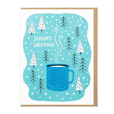 Season's Greetings Enamel Cup