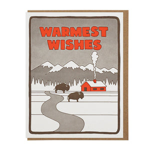 Warmest Wishes Bison