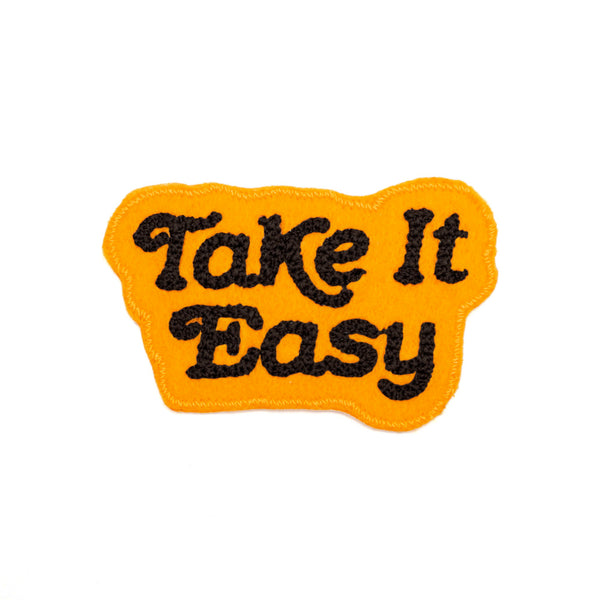 Take It Easy Chain Stitched Patch (Assorted Colors)