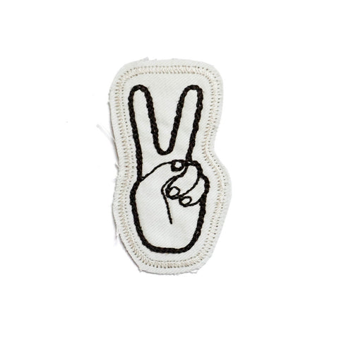 Peace Stitched Patch (Natural White)
