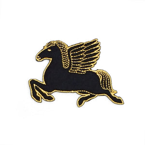 Pegasus Iron-On Patch (Black)