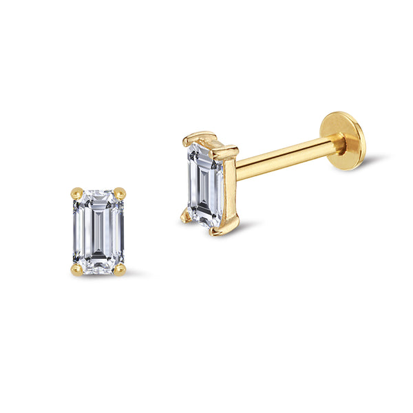 Baguette Diamond Piercing