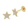 Star White Diamond Piercing