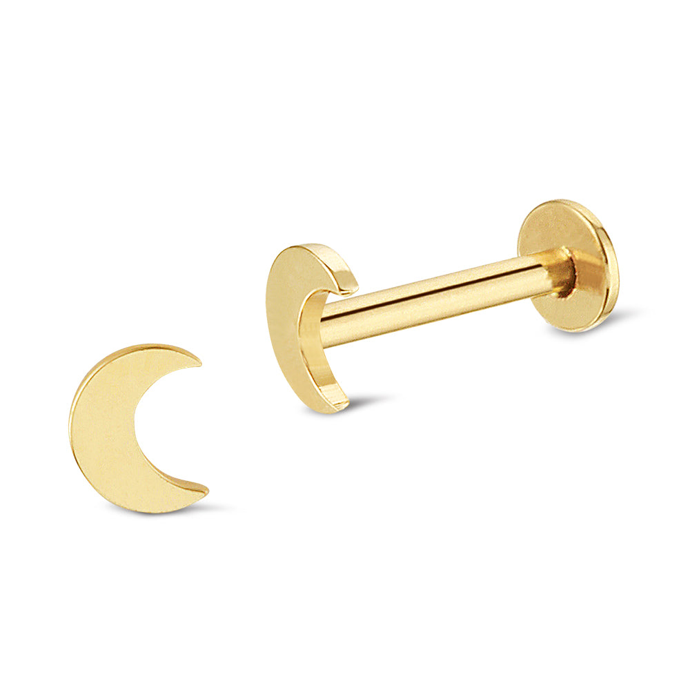 Moon 14K Gold Piercing