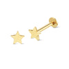 Star 14K Gold Piercing