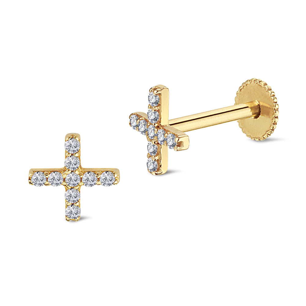 Cross Diamond Piercing