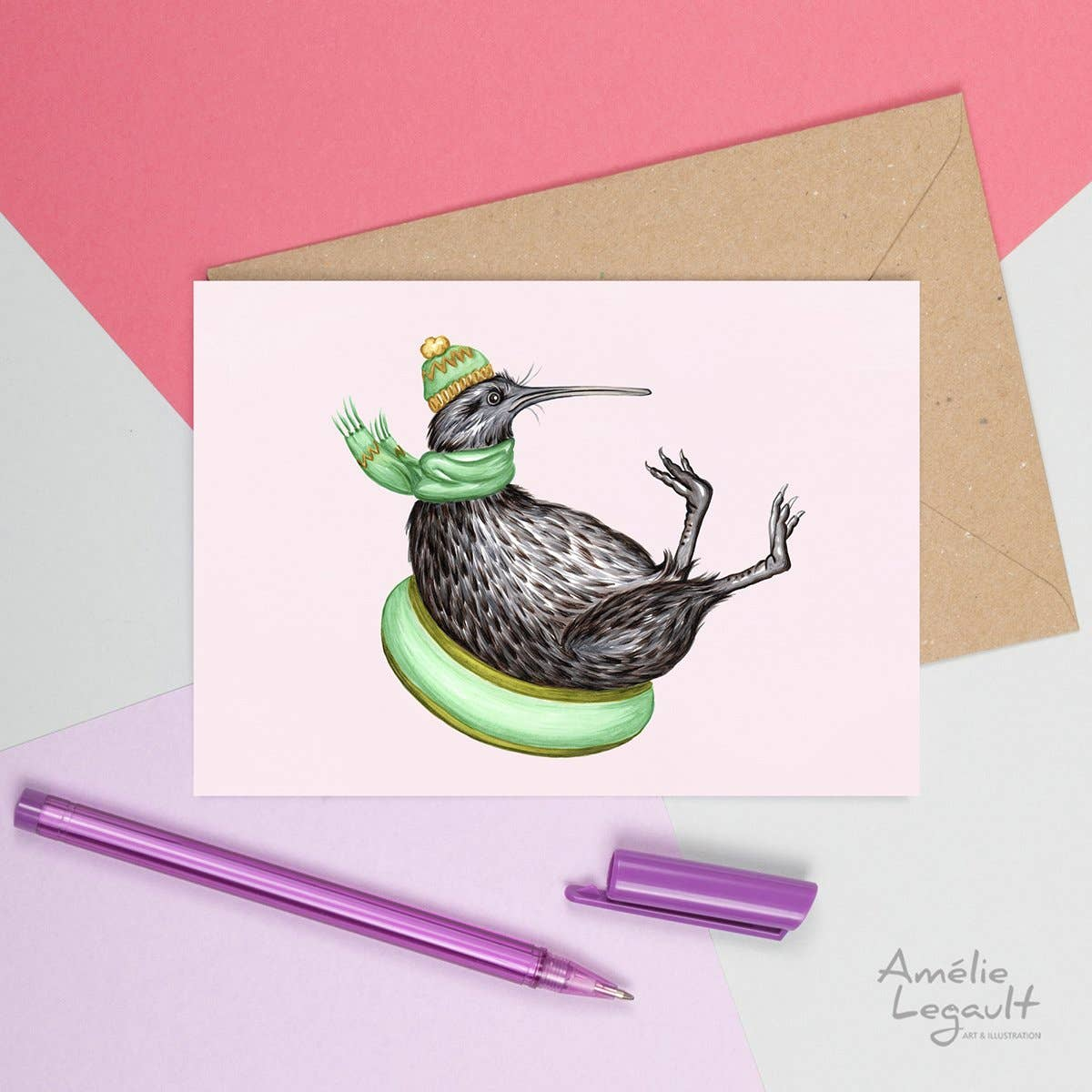 Kiwi Bird Sliding Card