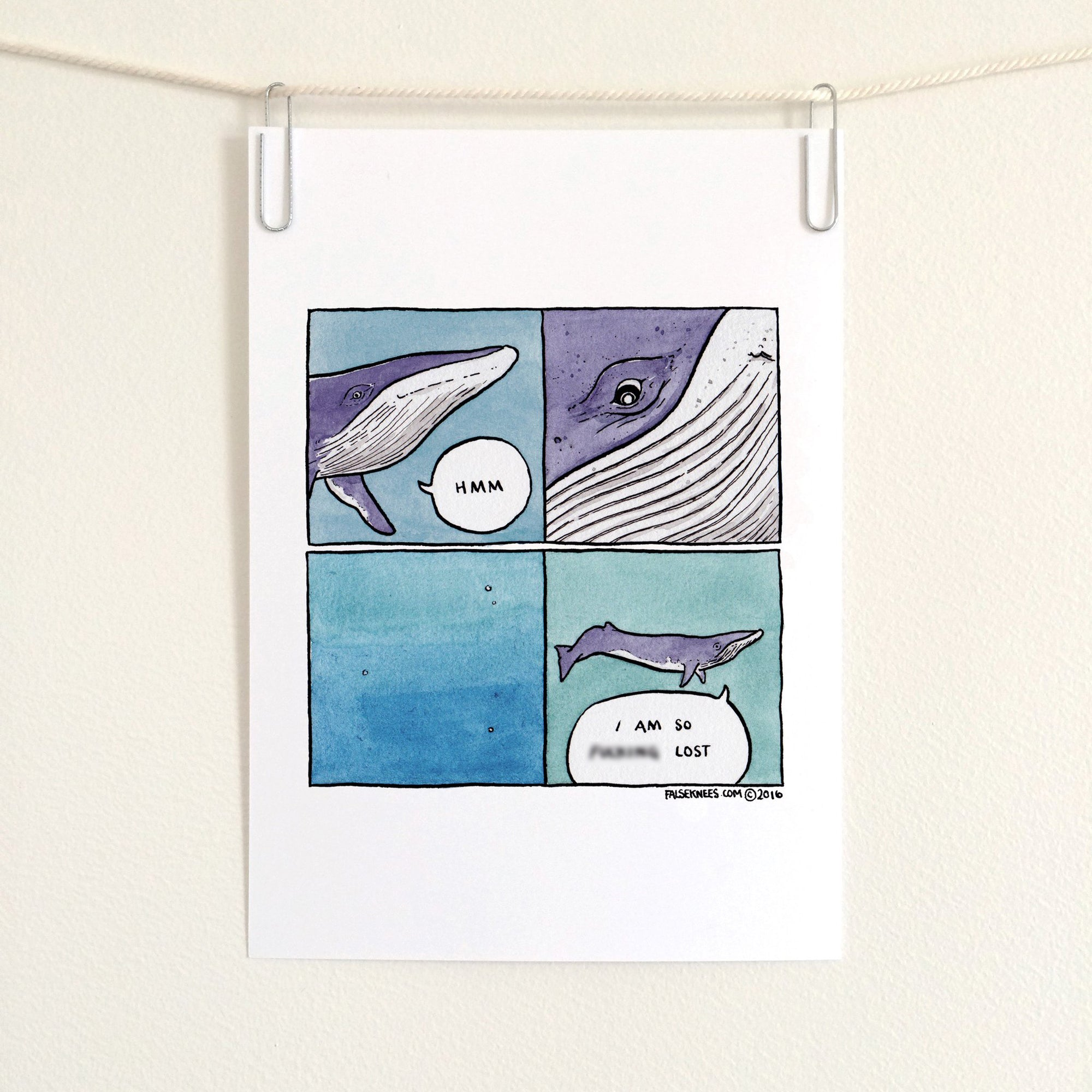 Lost In Sea Comic Print