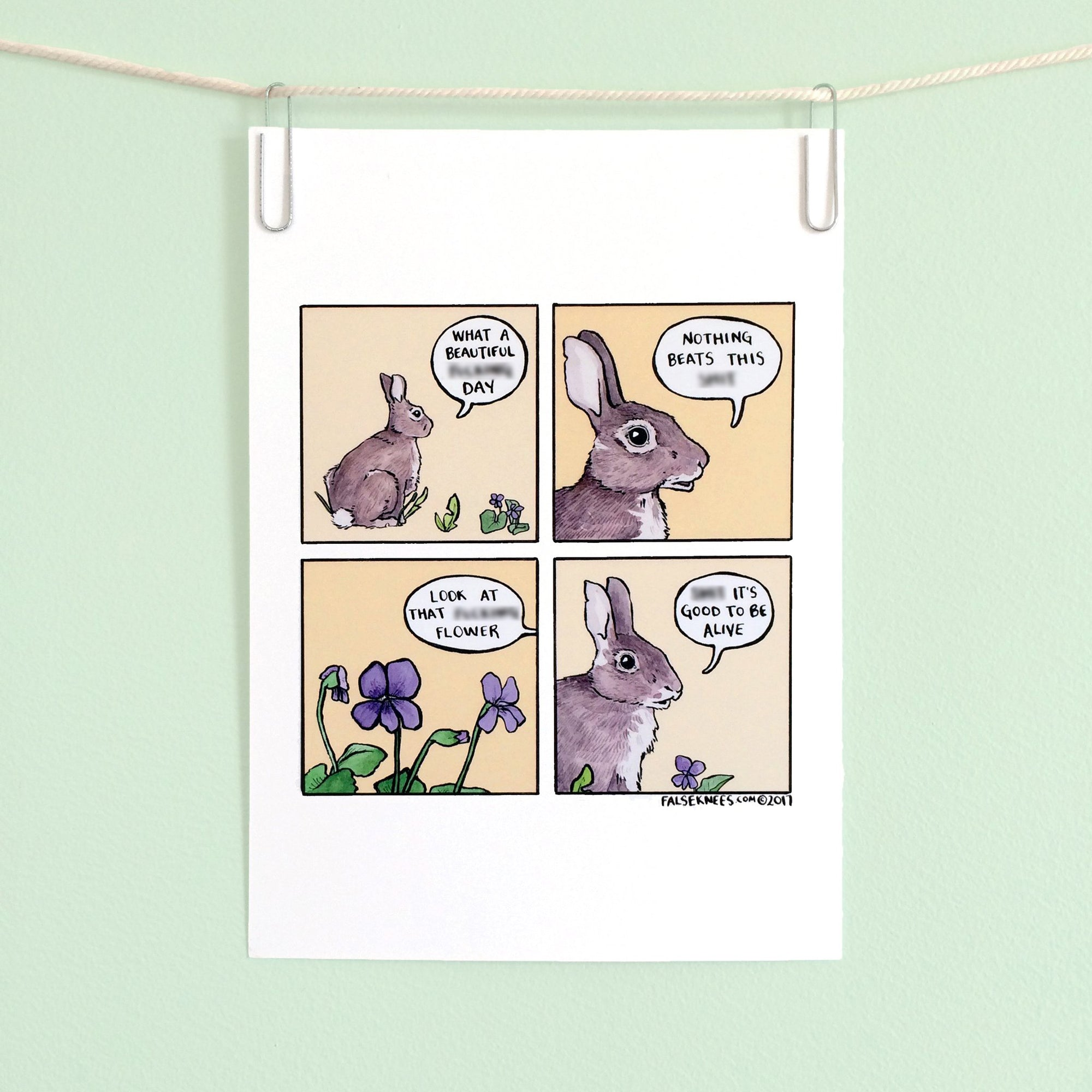 Sh*t It's Good To Be Alive Comic Print