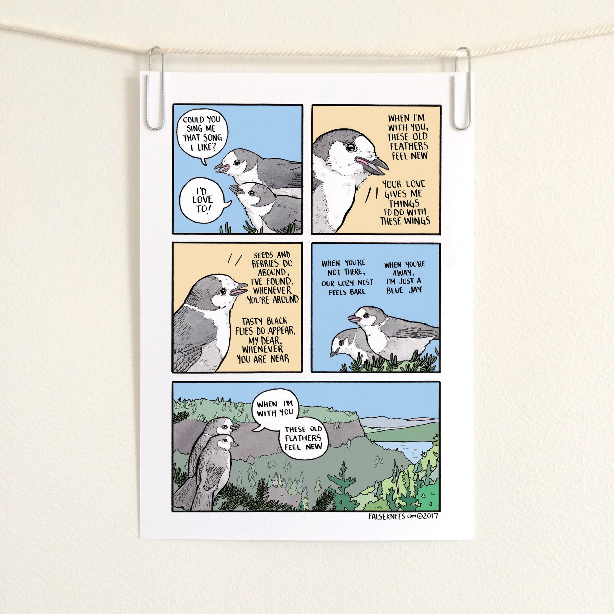 When I'm With You Comic Print