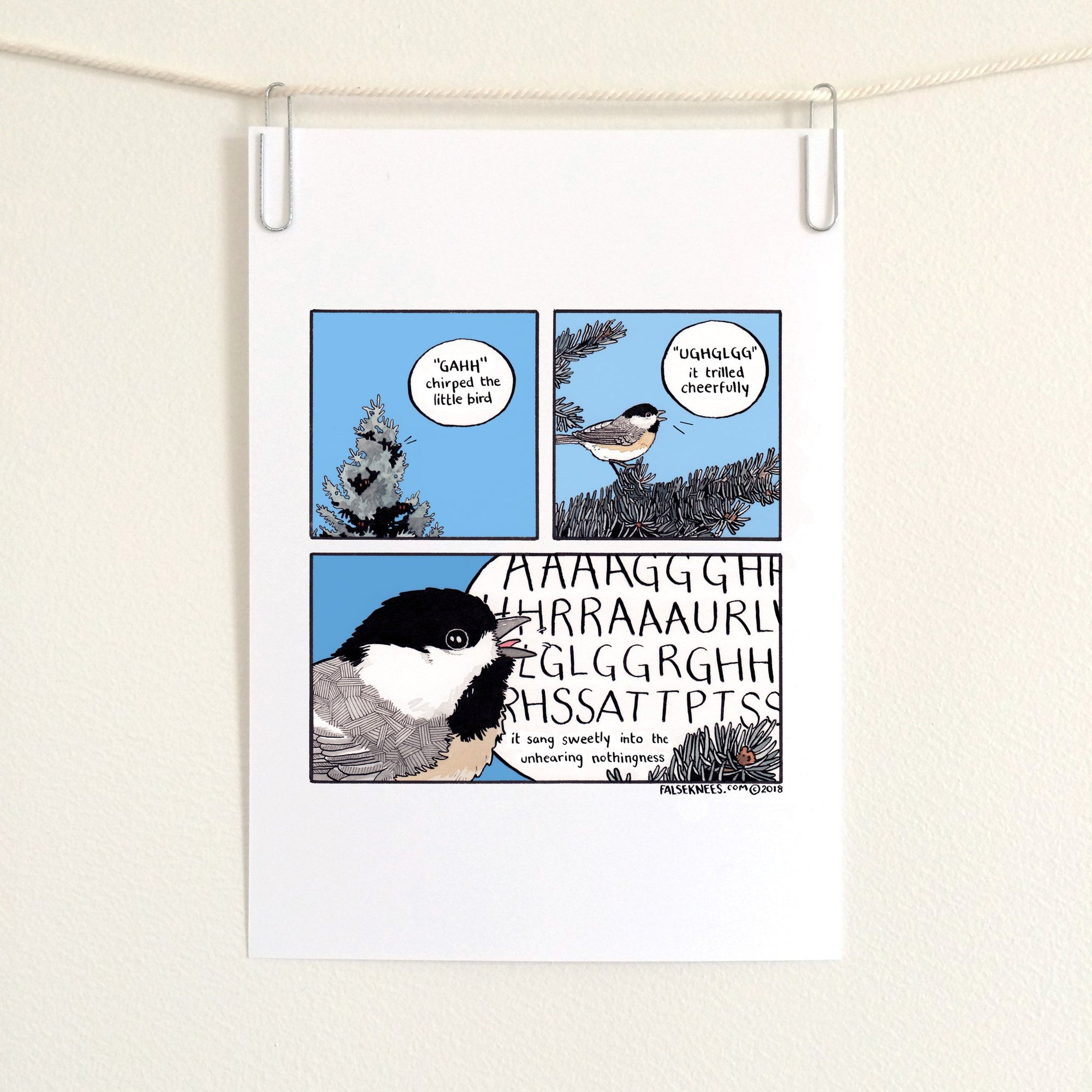 Unhearing Nothingness Comic Print