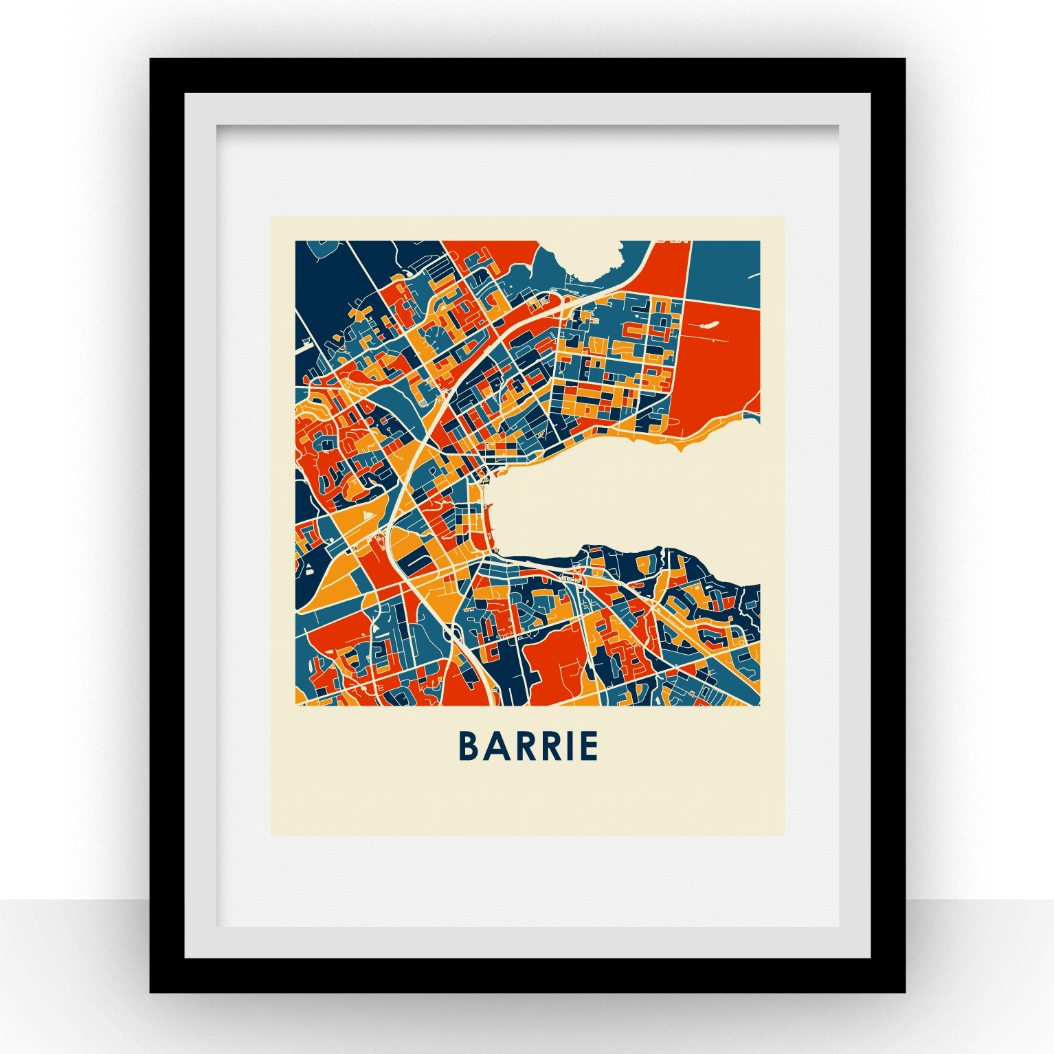 Barrie Map Print