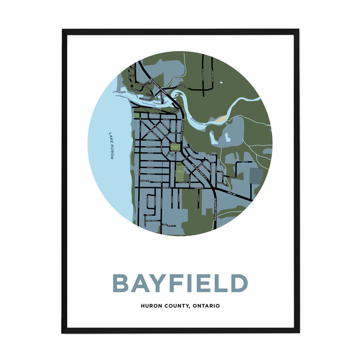 <i>*PICKUP ONLY*</i><br>Bayfield Map Print