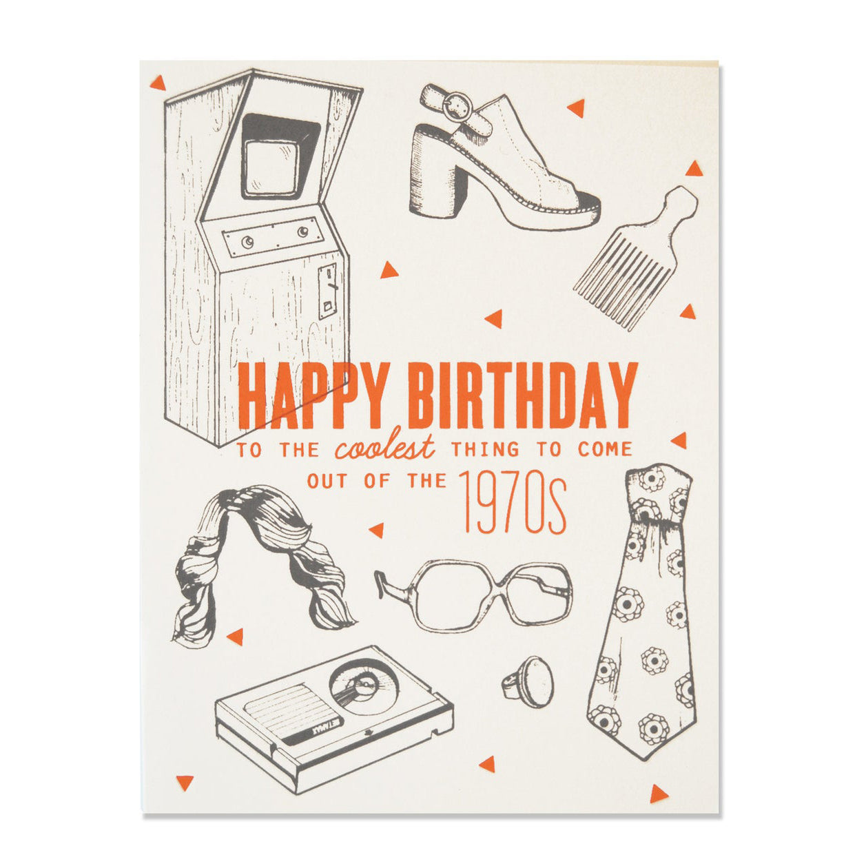 70s Birthday Card