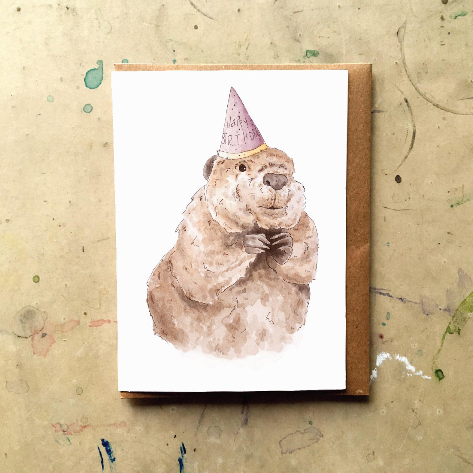 Birthday Beaver Card