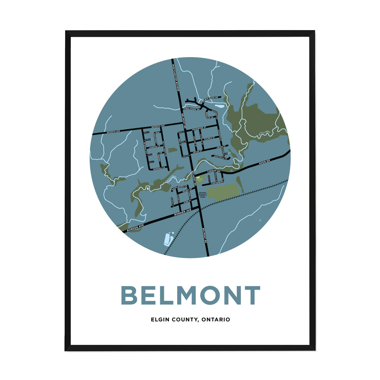 <i>*PICKUP ONLY*</i><br>Belmont Map Print