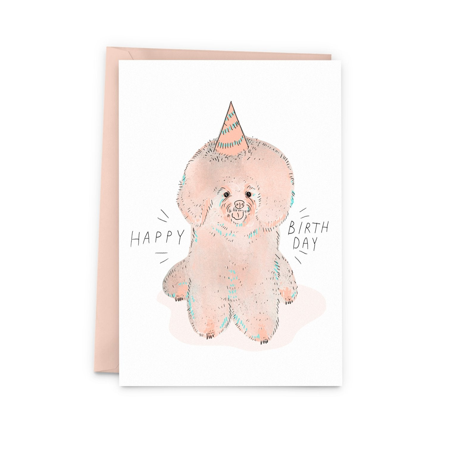 Birthday Bichon Card
