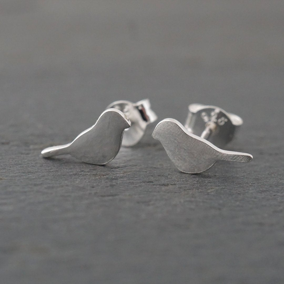 Small Bird Sterling Silver Studs