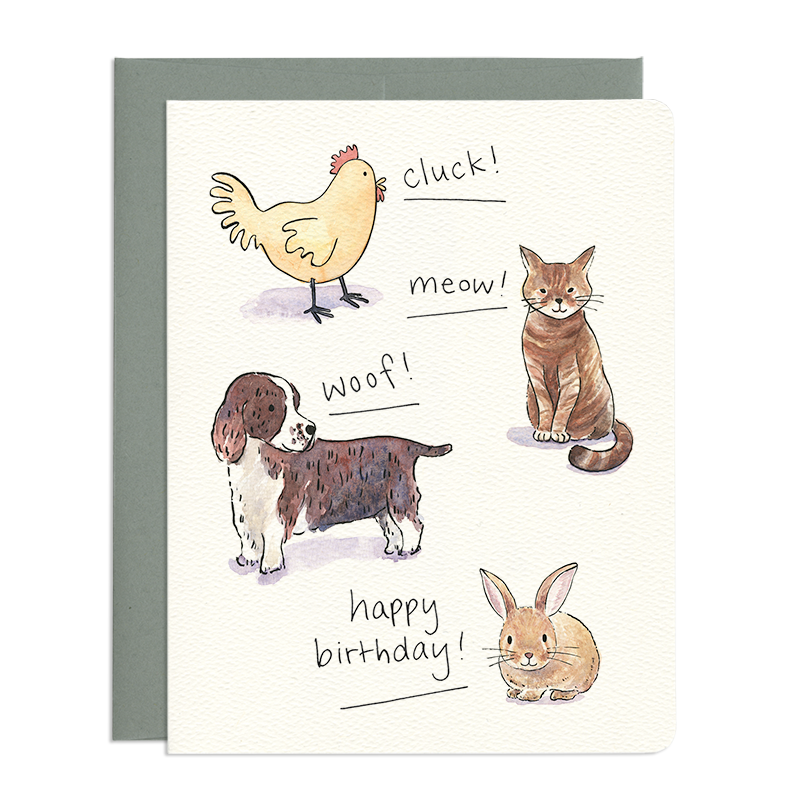 Birthday Animal Sounds Card