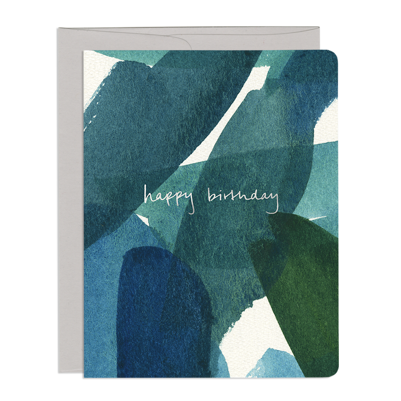 Blue & Green Birthday Card