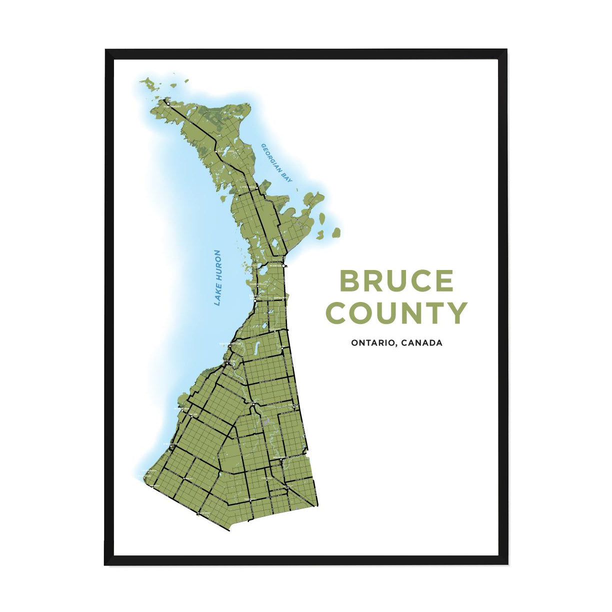 <i>*PICKUP ONLY*</i><br>Bruce County Map Print