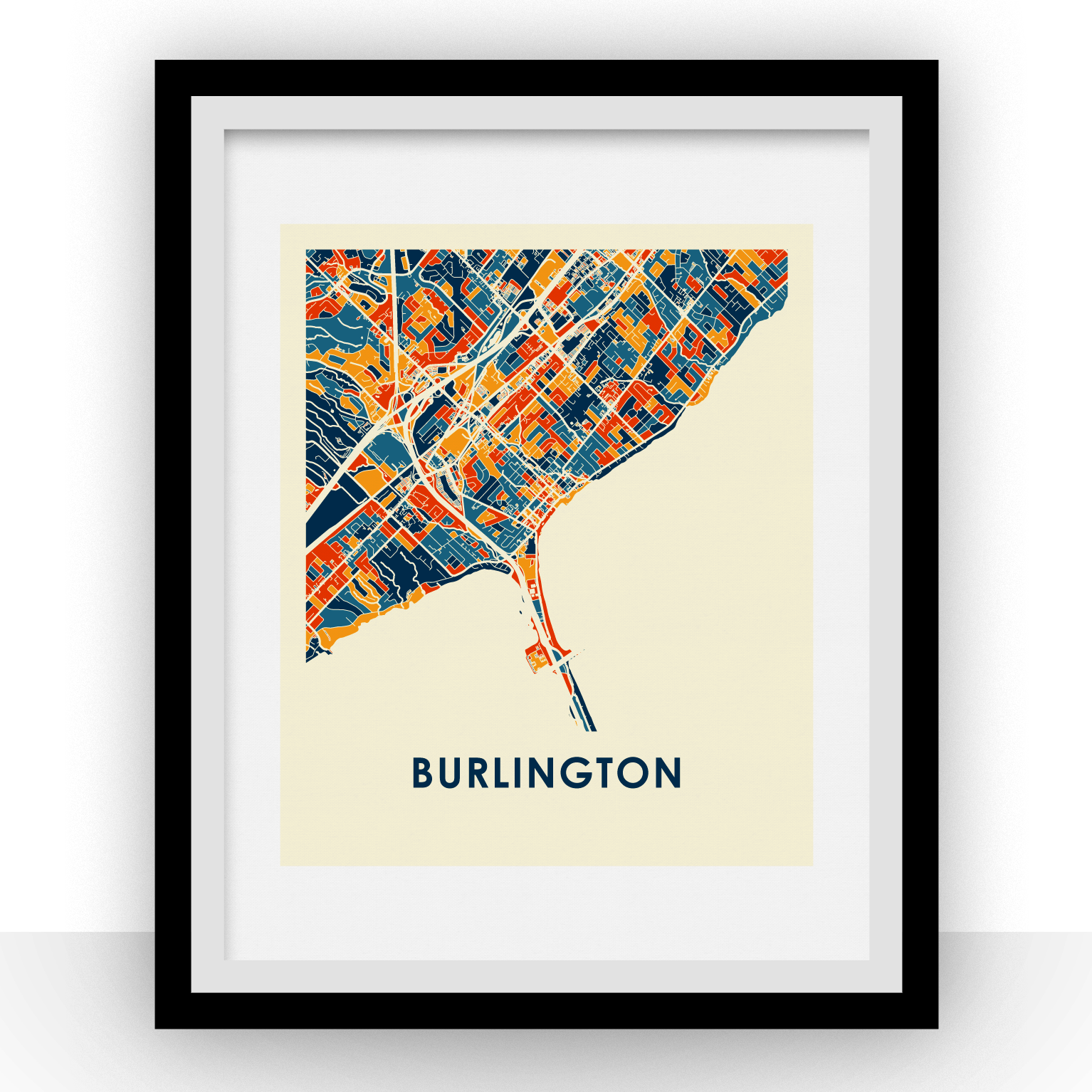 Burlington Map Print