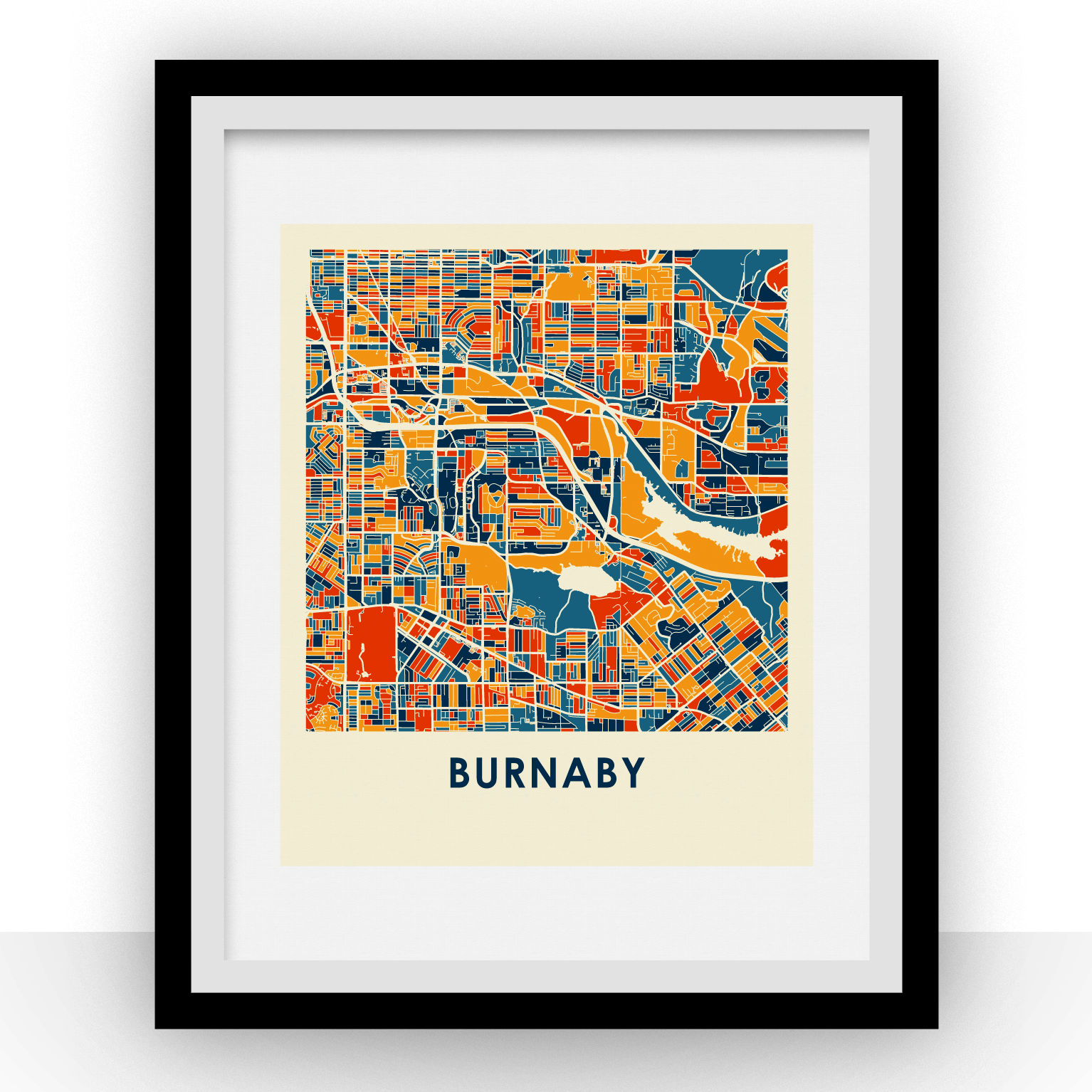 Burnaby Map Print