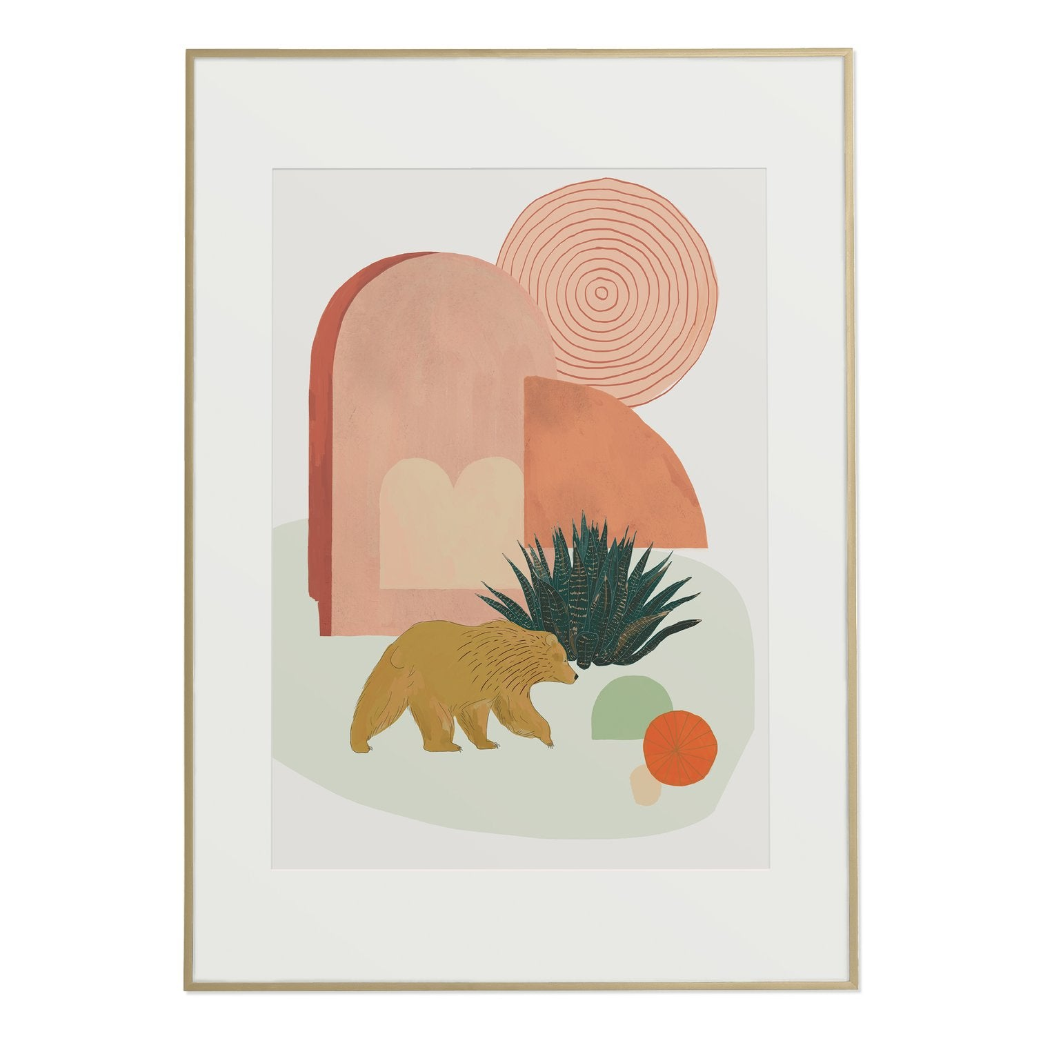California Desert Bear Print