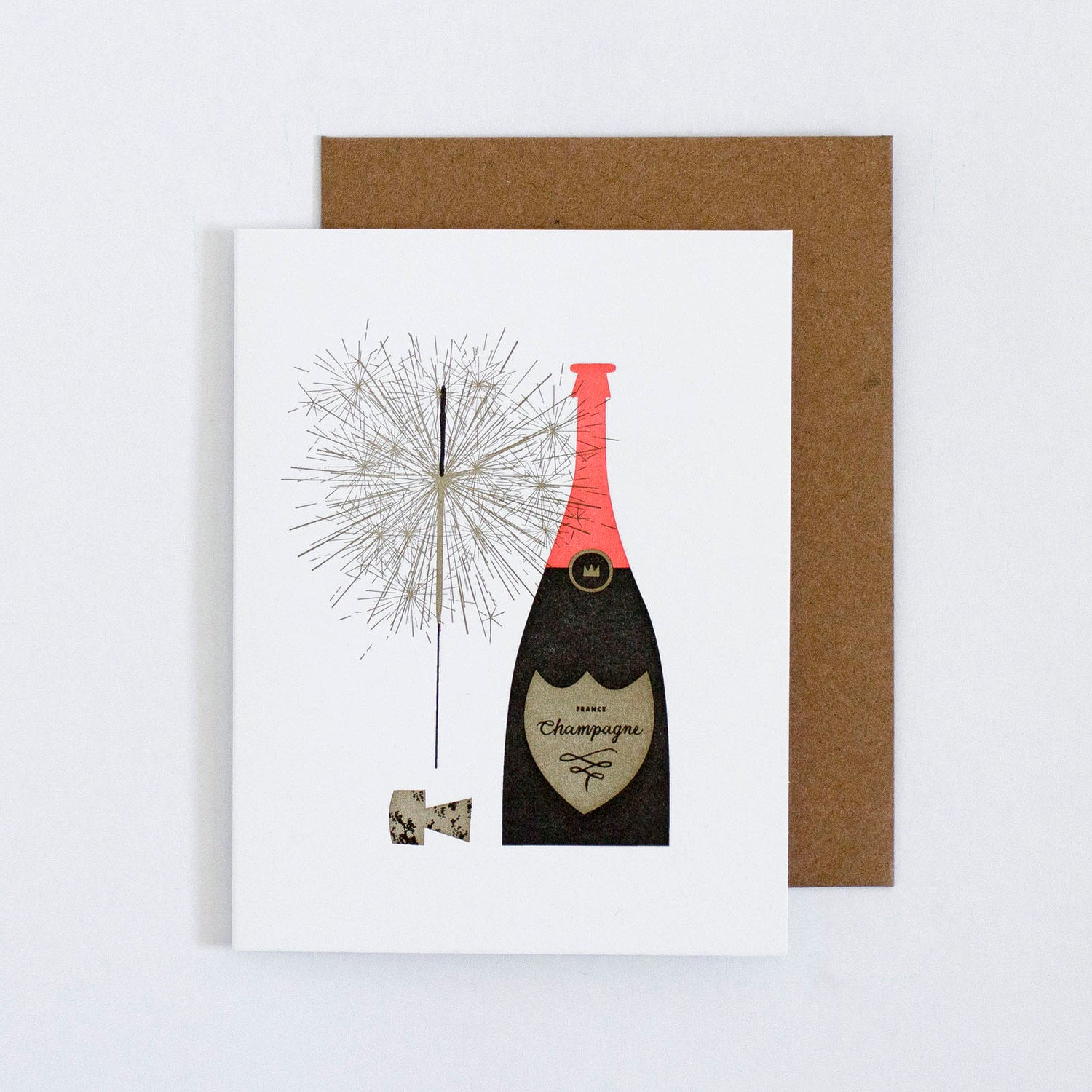 Champagne and Sparkler Card