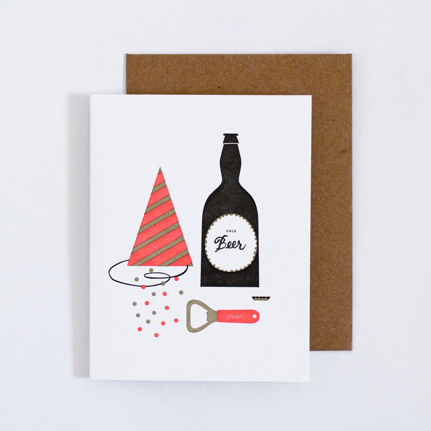Beer and Party Hat Card