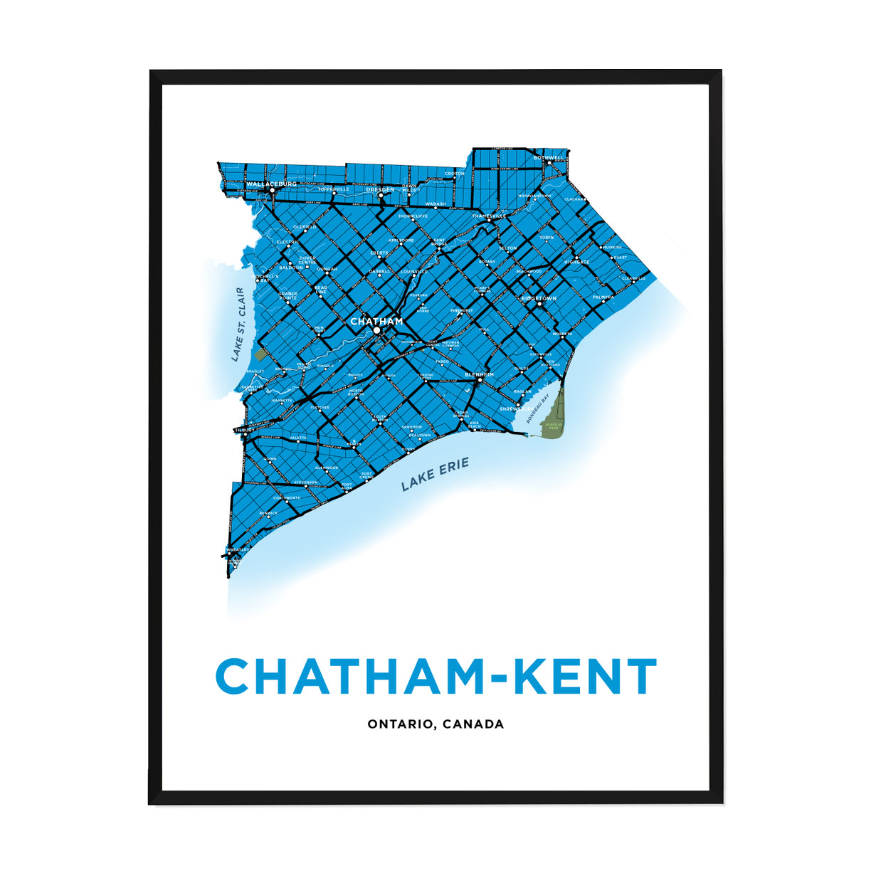 <i>*PICKUP ONLY*</i><br>Chatham-Kent Map Print