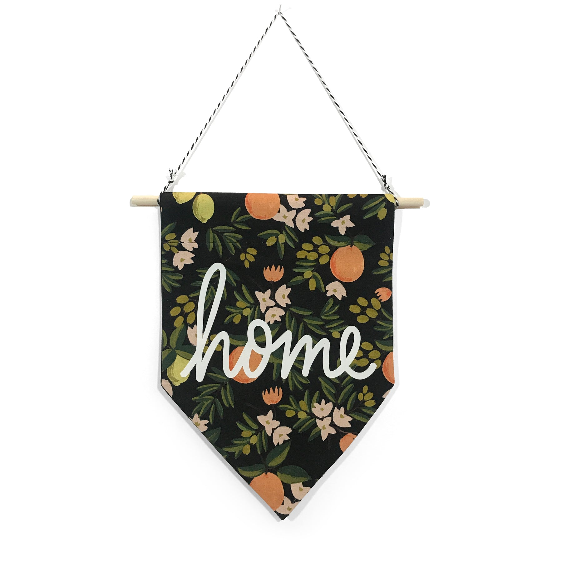 soft flirt x Spruce Moose Banner - Home on Citrus Floral - Dark