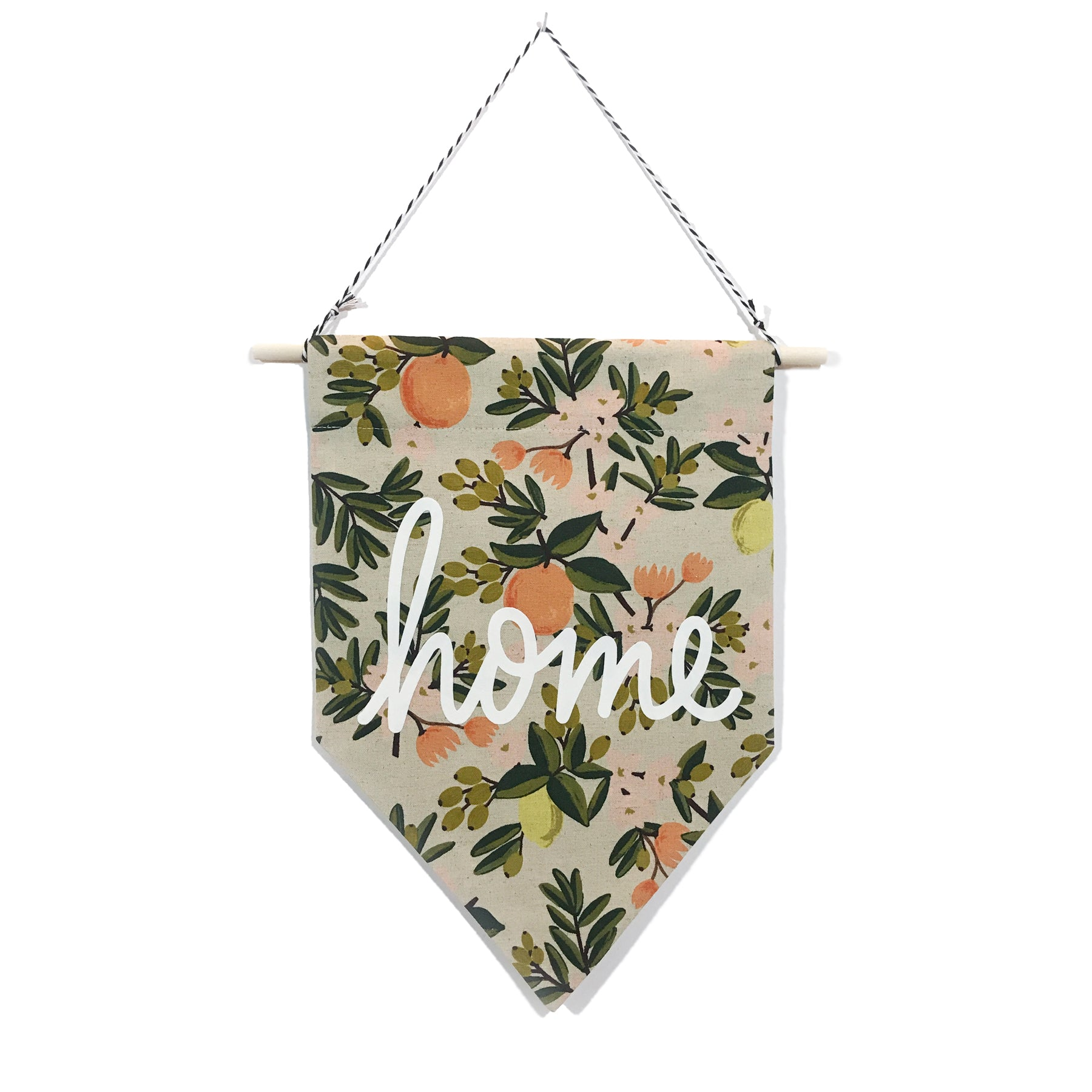 soft flirt x Spruce Moose Banner - Home on Citrus Floral - Light