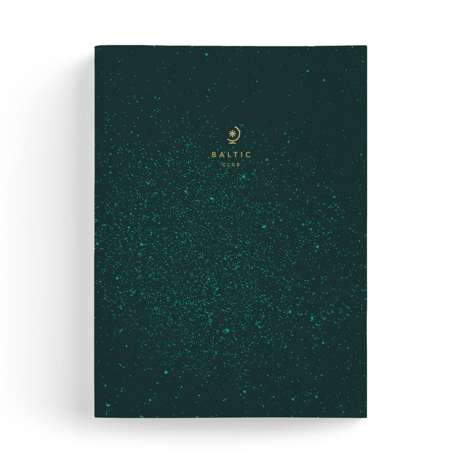 Cosmic Green Large Notebook