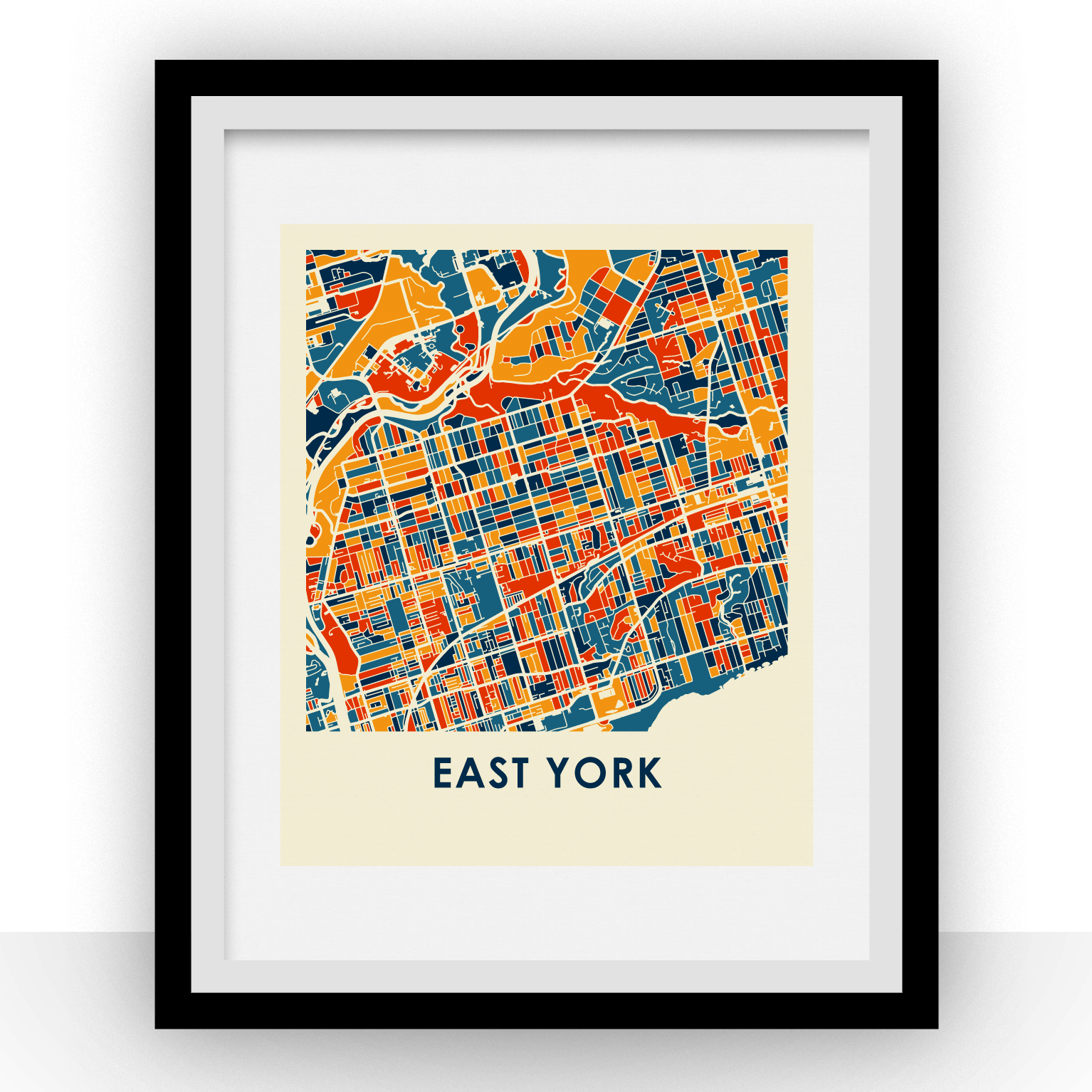 East York Map Print