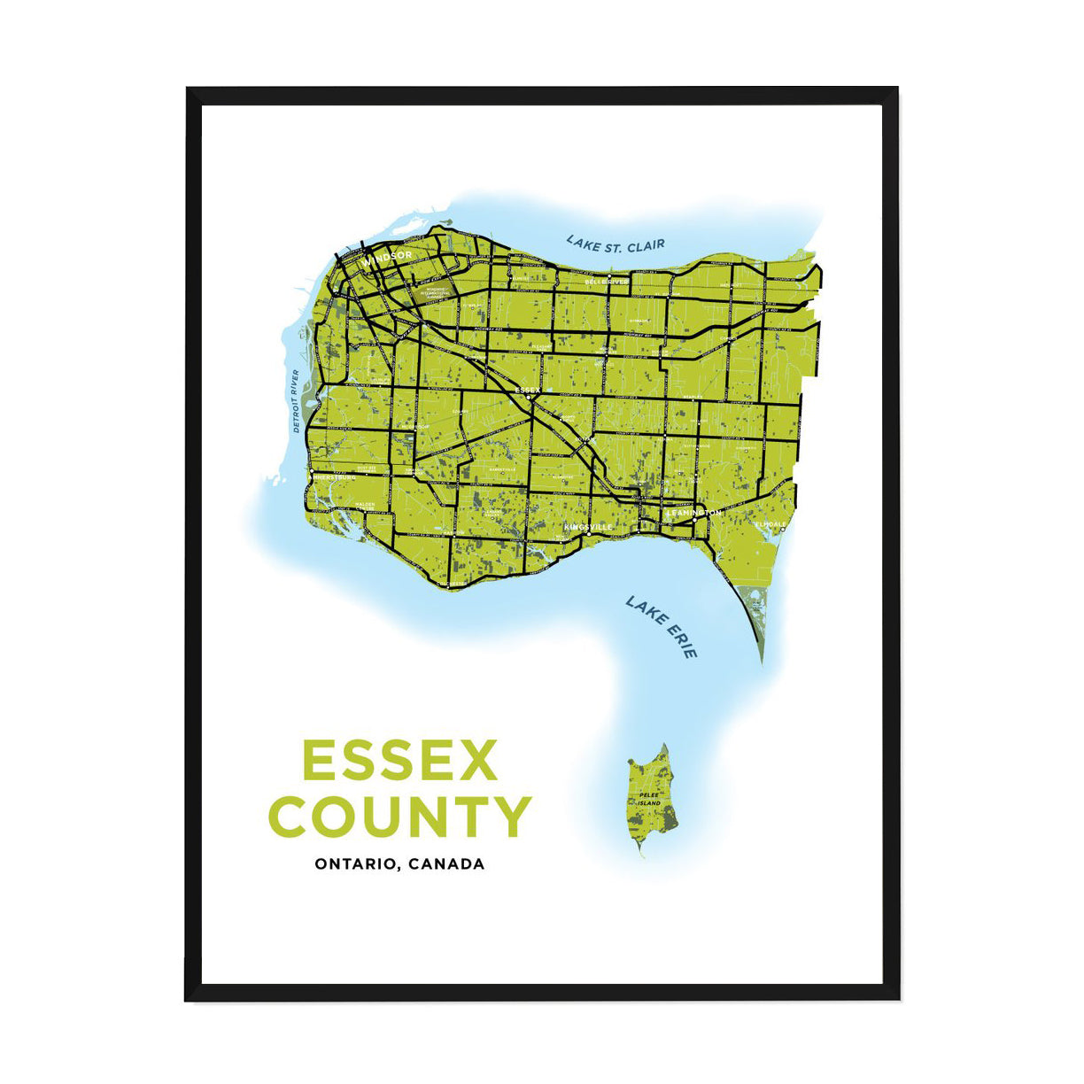 <i>*PICKUP ONLY*</i><br>Essex County Map Print