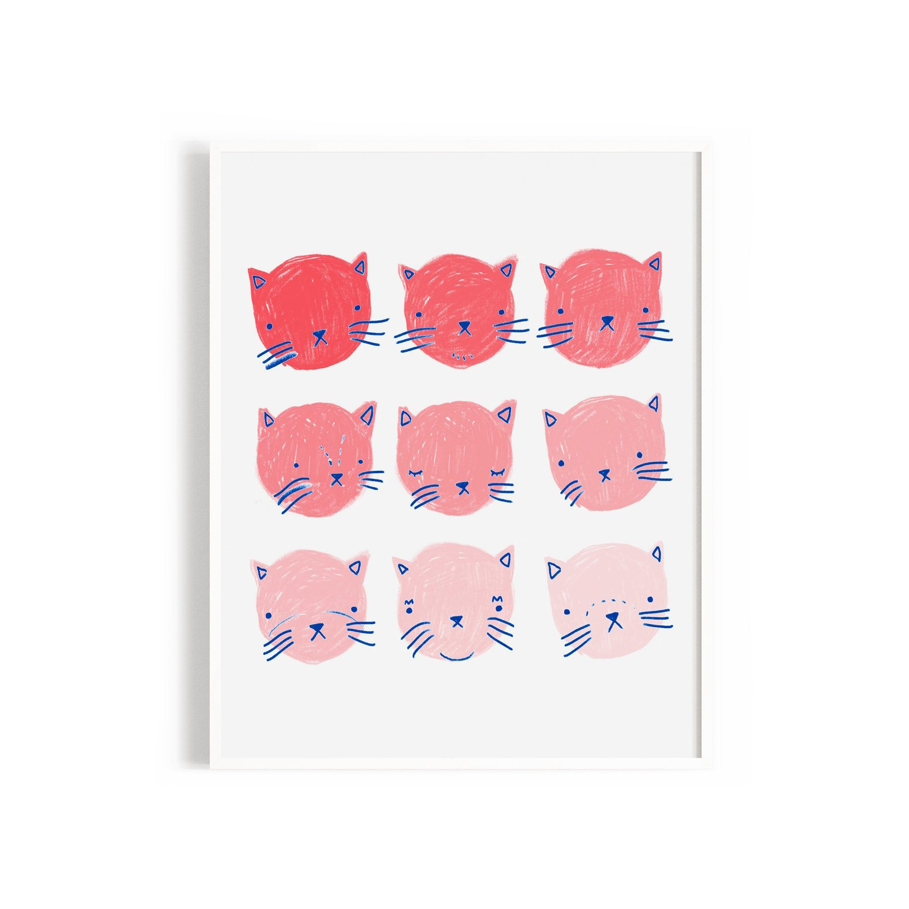 Fading Cats Print