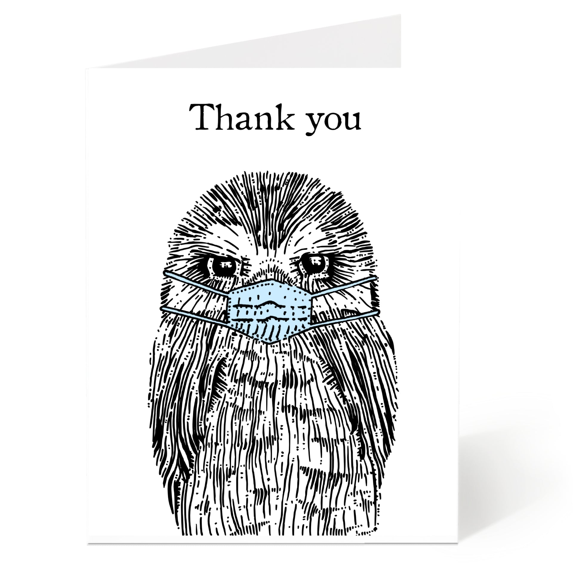 Thank You Masked Owl Card