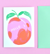 Peach Greeting Card